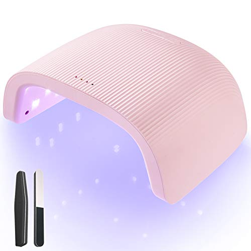 O'Vinna Lampada UV LED Unghie,48W Professionale Manicure e Pedicure con Sensore Automatico,3 Timers da 30s/60s/90s,Asciuga Fornetto Unghie per Tutti Gli Smalti,Rosa