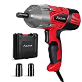 AVID POWER Electric Impact Wrench with 1/2 Inch Chuck, 500 N.m (370 Ft-lbs) Max Torque with 2 Sockets(13/16'' 3/4'') and Carrying Case