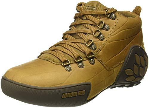 Woodland Men's Camel Leather Sneakers-9 UK/India (43)(GC 1869115_Camel_9)