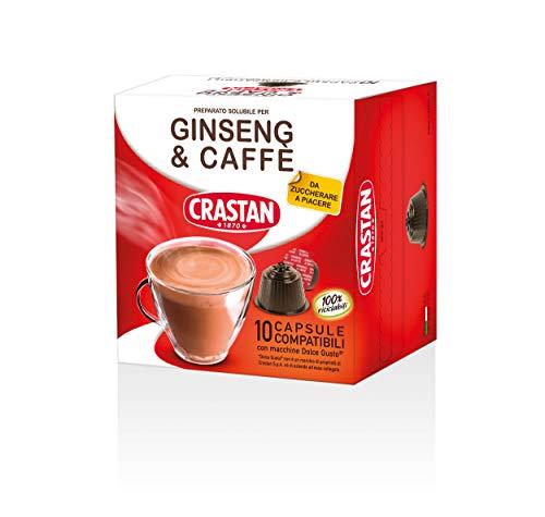 Crastan Capsule Compatibili Dolce Gusto - Ginseng & Caffè da zuccherare - 10 confezioni da 10 capsule [100 capsule]