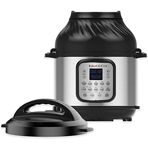 Instant Pot Duo Crisp 11-in-1 Electric Pressure Cooker with Air Fryer Lid, 8 Quart Stainless St…