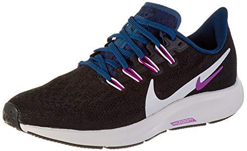 Nike Damen WMNS AIR Zoom Pegasus 36 Laufschuh, Black/Summit White/Valerian Blue/Vivid Purple, 40 EU