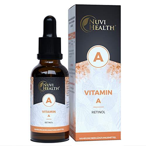 Nuvi Health® | Vitamine A | 1700 Druppels | 5.000 IE | 1500 μg per dag | Veganistisch | MCT olie
