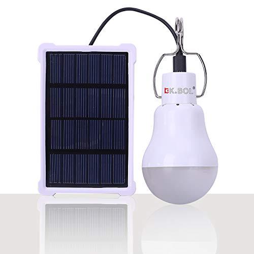 KK.BOL Portable Ampoule Solaire 150LM1600mA LED lampe solaire camping lampe...