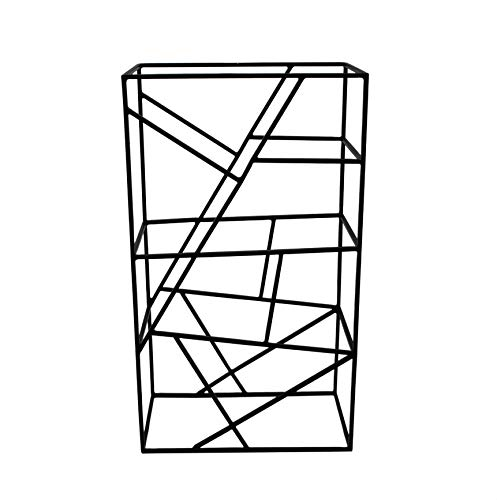 LaLe Living Cantinetta Vino in ferro spazzolato per 9 bottiglie di vino con dimensioni 26 x 45,5 cm, per conservare vino e bottiglie d'acqua, design geometrico