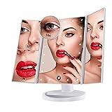 Miroir de Maquillage, Nestling Miroir Grossissant Triptyque avec 21pcs LED,...
