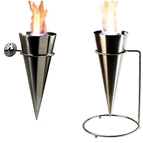 Kaminbau Mierzwa ( df-shopping ) Wall torch floor torch gel fireplace ethanol fireplace complete stainless steel.