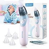 Bichiro Mouche bébé, Aspirateur nasal électrique avec 3 buses à morve réutilisables pour les nouveau-nés, les tout-petits et les enfants de bas âge