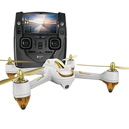 Hubsan H501S X4 Brushless FPV Droni Quadricotteri GPS Fotocamera 1080P HD 5.8Ghz con Telecomando (H501S Blanco)