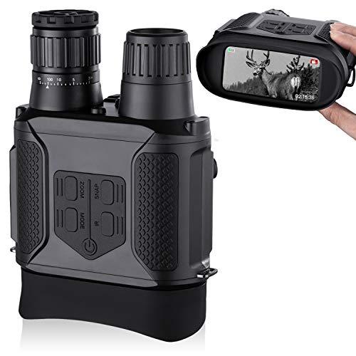 Binocolo visione notturna, scattare foto e video 3,5-7 x 31 mm a infrarossi Spy Gear 850 nm IR 4 ampio schermo 1300ft con scheda di memoria 32G per la caccia sorveglianza