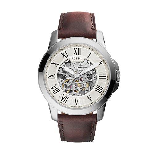 Fossil Herren Analog Mechanik Uhr mit Leder Armband ME3099