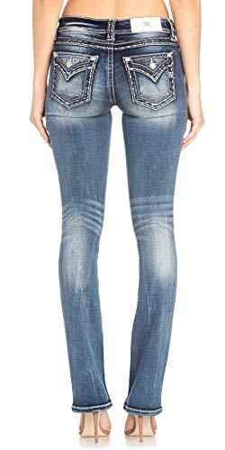 Miss Me - - Frauen Mid-Rise M5014B311 Boot Jeans, 28, Dark Blue