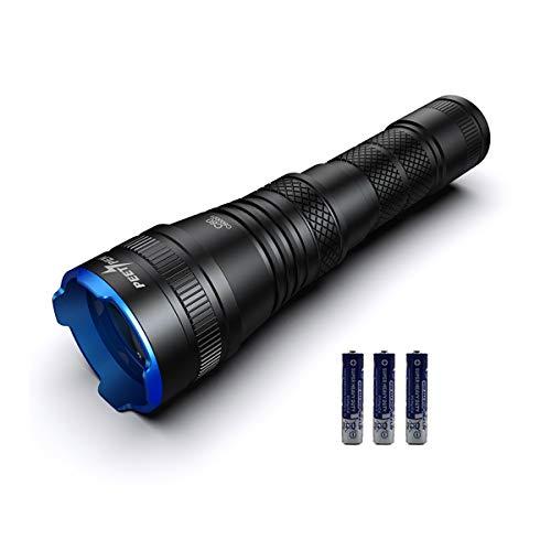 Taschenlampe Superhelle Zoombar 1000 Lumen, LED Taktisches Licht Wasserdicht IPX6, LED Taschenlampe 4 Modi Geeignet Für Camping im Freien, Radfahren, Nachtfischen, Wandern (18650 oder AAA) Batterie