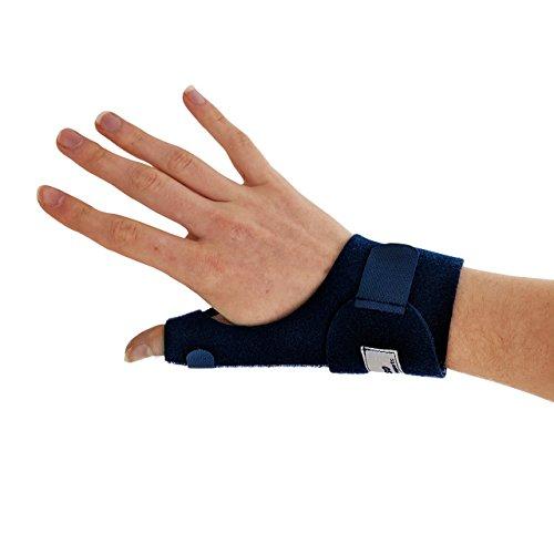 Actesso Daumenschiene Daumenbandage - Orthese für Verstauchung, De Quervain und Sehnenscheidenentzündung - Einheitsgröße Links Oder Rechts (Rechts, Blau)