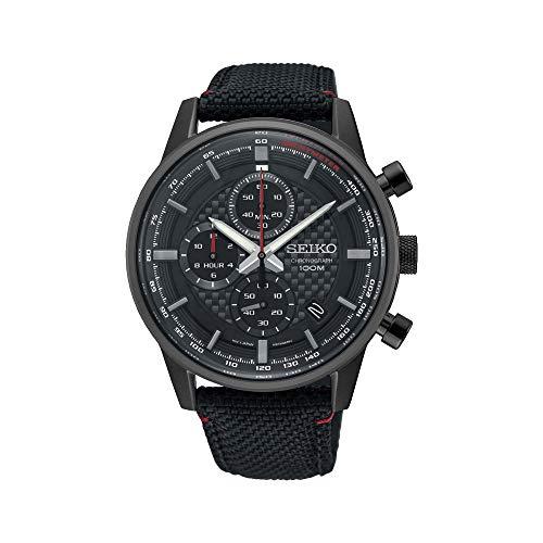 Seiko Herren-Uhr Chronograph mit Textilarmband SSB315P1