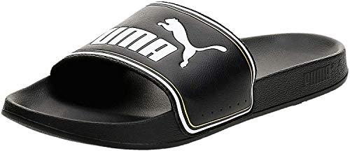 PUMA Leadcat FTR, Zapatos de Playa y Piscina Unisex Adulto Black Team Gold White, 40.5 EU