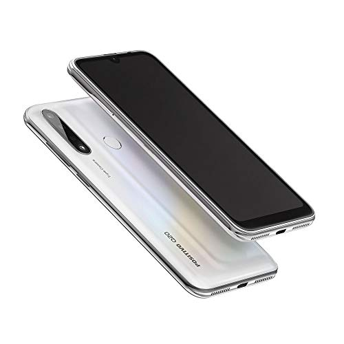 "Smartphone positivo q20, 4gb ram, 128gb, tela 6. 1"", camêra 13mp wide, 5mp ultrawide e 2mp profundidade, câmera frontal de 8mp, pearl white"