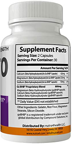 KGX Keto Pills 800 Advanced Energy Ketones with Go BHB Capsules Ketones Ketogenic Supplement for Weight Loss Pills 60 Capsules 800 MG GO BHB Salts 2