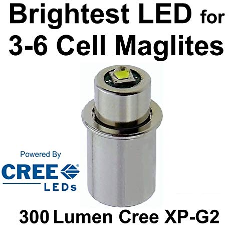 Maglite LED Conversion Upgrade Cree XP-G2 350 Lumen Bulb 3 to 6 D or C Cell Flashlights by UpLED
