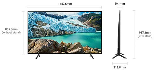 Samsung 163 cm (65 Inches) 4K Ultra HD Smart LED TV UA65RU7100KXXL (Black) (2019 Model) 4