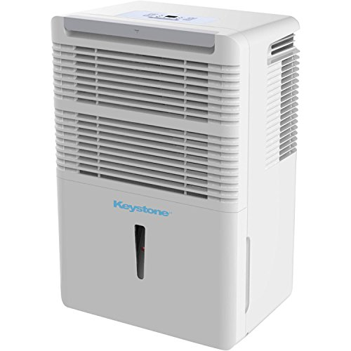 Keystone KSTAD30B 30-Pint Dehumidifier with Electronic Controls in White