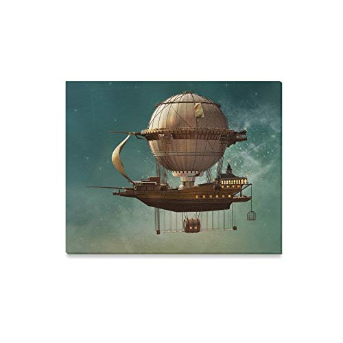 Wall Art Painting Steampunk Hot Air Balloon 3 D Prints On Canvas The Picture Landscape Pictures Oil For Home Modern Decoration Print Decor For Living Room