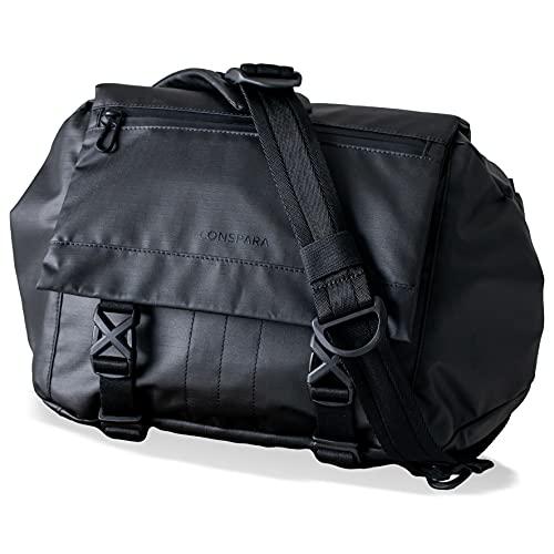 CONSPARA メッセンジャーバッグ 防水 メンズ 動いてもズレない ボディバック サイクルバック 自転車 ショルダーバック おしゃれ ビジネスバッグ 男性用 かばん 防水バッグ