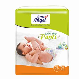 Little Angel Extra Dry Baby Diaper Pants, X Large – 56 Count
