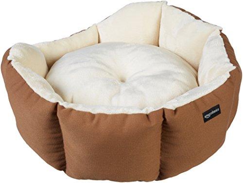 AmazonBasics Octagon Pet Bed - 20 Inch, Brown