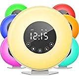 Sunrise Alarm Clock Radio, Wake up Light Digital Clock with 6 Nature Sounds & Radio