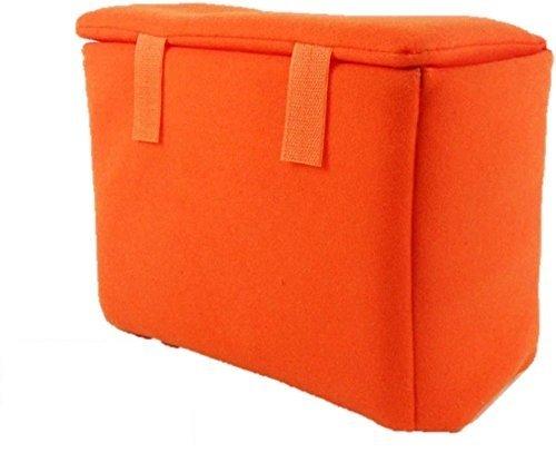 普通の バッグ を カメラ バック に カメラ 保護 インナー ソフト クッション ボックス オレンジ