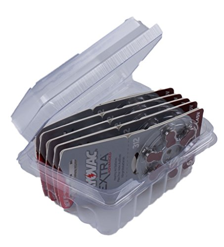 Rayovac Extra Advanced Batterie Acustiche Zinco Aria, Formato 312 Value Pack da 60 Batterie, Marrone