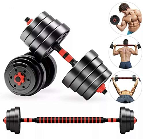 Anysun Dumbbells Weight Set 2 in 1 10KG-25KG Pair Barbell Set Adjustable Lifting Training With Connecting Rod