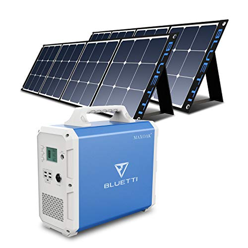 BLUETTI EB150 1500Wh Portable Power Station with 2Pcs Solar Panel