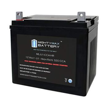 Mighty Max Battery ML-U1-CCAHR 12V 320CCA Battery for JohnDeere X320 300CCA Lawn Mower Brand Product