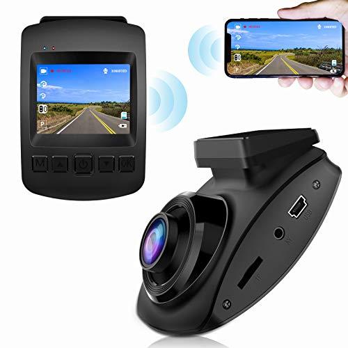 【2020 Nuova Versione】CHORTAU Telecamera per Auto WiFi Full HD 1080P, Dashcam Schermo da 2 pollici 170 ° Grandangolo, Videocamera per auto con Monitor di Parcheggio