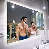 FORAM Moderne Miroir avec LED Illumination Salle de Bain avec Accessoires -...