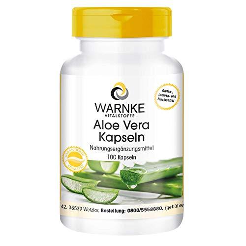 Aloe Vera Kapseln - vegan & hochdosiert - 200:1 Aloe Vera Extrakt - 100 Kapseln