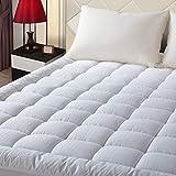 EASELAND Full XL Mattress Pad Pillow Top Mattress Cover Quilted Fitted Mattress Protector Extra Long Cotton Top 8-21' Deep Pocket Cooling Mattress Topper