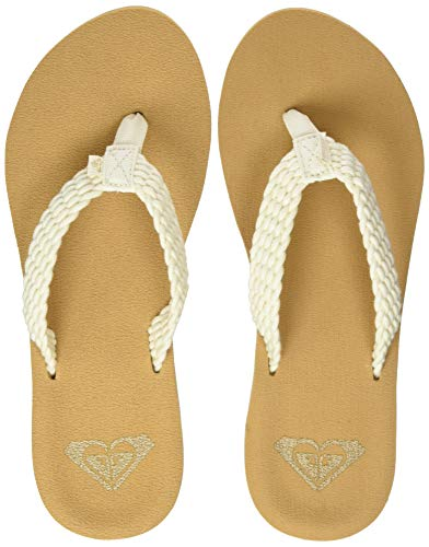 Roxy Porto, Zapatos de Playa y Piscina para Mujer, Blanco (Natural Nat), 42 EU