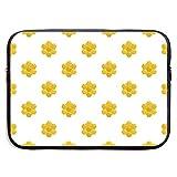 Honey Comb of Bee Icon Bolsas para portátiles de Estilo Plano compatibles con tabletas Netbook de 15 ″, maletín con Funda para el Bolso de Mano