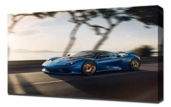 Lilarama (compatible with 2020-Pininfarina-Battista-V7- Canvas Art Print - Wall Art - Canvas Wrap - Wall Decor