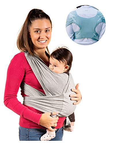 Kalpas®| Fascia porta bambino facile da indossare - Taglia unica Unisex - Marsupio neonati multiuso adatto fino a 15kg Fascia porta bebe - Design Registrato
