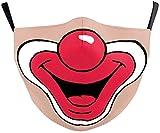 Youning 3D Mundschutz Multifunktionstuch Damen Herren Clown Ugly Lustig Lippen 3D Mund und Nasenschutz Waschbar Wiederverwendbar Mundschutz mit Motiv Weihnachten