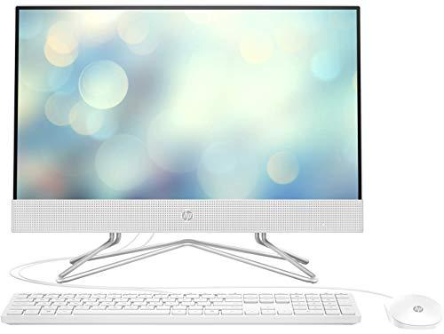 HP All-in-One 22-df0005ns Ordinateur de Bureau 21,5' FHD (AMD Ryzen 3 3250U, 8 Go de RAM, 256 Go SSD, AMD Radeon, sans système d'exploitation) Blanc Clavier QWERTY Espagnol