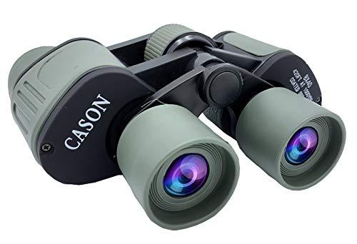 CASON (DEVICE OF C)-Professional 8 X 40 HD Binoculars Powerful Lens 8X Zoom Portable Binocular Telescope with Pouch Outdoor Binoculars for Long Distance,Bird Watching,Wildlife for Adults(Green)