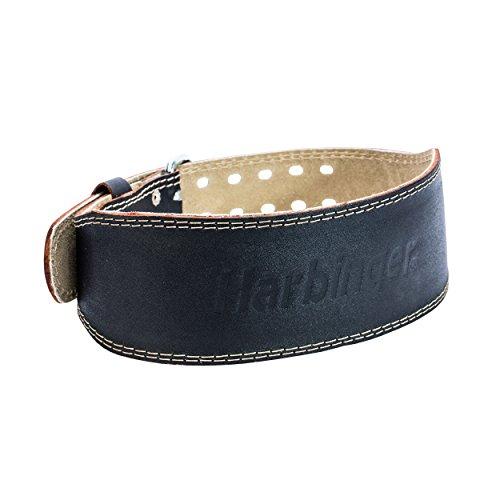 4. Harbinger Padded Leather Contoured Weightlifting Belt