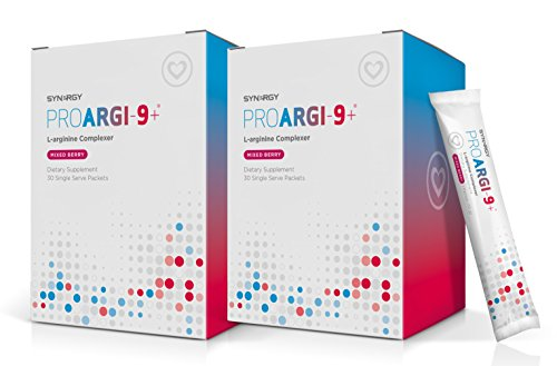 2 Boxes: ProArgi-9 Plus Mixed Berry Single Serves: Nitric Oxide & L-Arginine Dietary Supplement with L-Citrulline for Healthy Cardiovascular Function