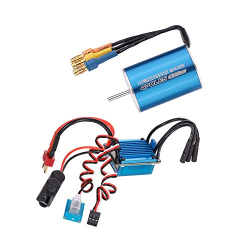GoolRC 2435 4800KV 4P Sensorless Brushless Motor with 25A Brushless ESC(Electric Speed Controller)for 1/16 1/18 RC Car Truck