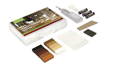 Picobello G61404 - Set per la riparazione di pavimentazioni in laminato, parquet, mobili e scale in legno